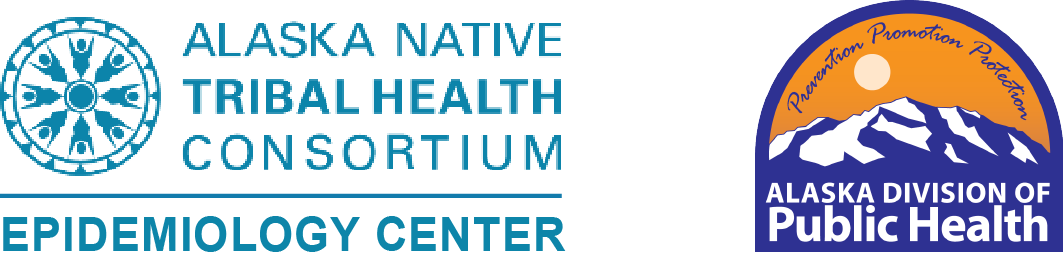 Logos for Alaska Native Epidemiology Center and Alaska Division of Public Health